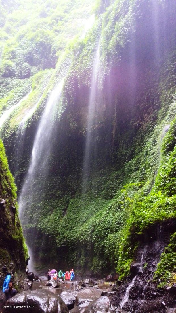 "The two cliff as ""welcome gate"" to Madakaripura Waterfall"