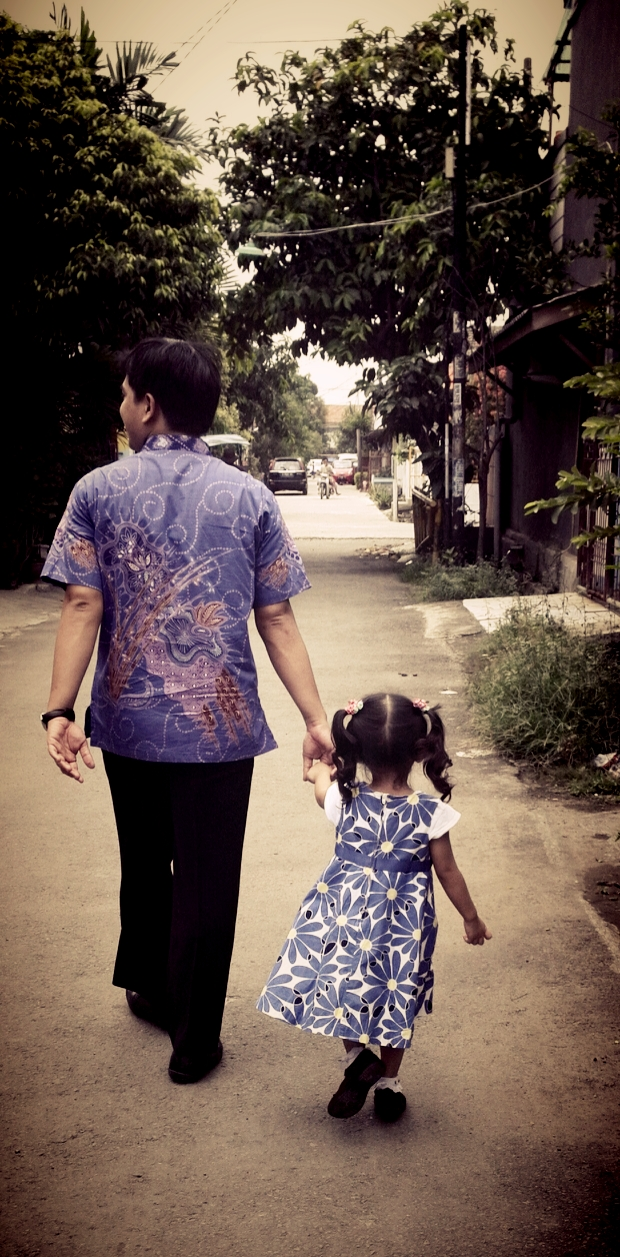 My beloved husband and sweet daughter :*