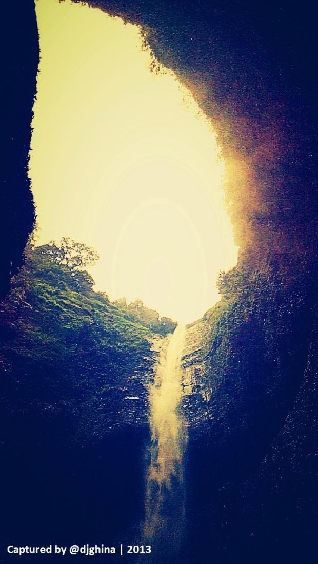 Madakaripura Waterfall looks like giant tube