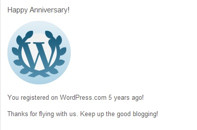 5 Years Blogging, Happy Anniversary