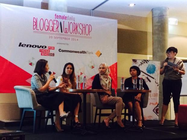 Inspiring Speakers (ki-ka: Hanifa Ambadar, Marischka Prudence, Fifi Alvianto, Vira Indohoy)
