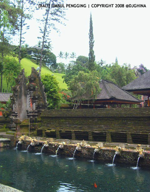 Holy water in Tirta Empul Temple (Tampak Siring Temple)
