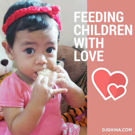 Feeding Aleandra with love