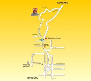 peta lokasi menuju kampung gajah lembang bandung